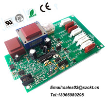 FR4 Double Sided LED PCB Board Assembly with White Solder Mask, 2oz Copper Thickness