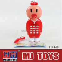 Very Cute plastic mobile phone toy musical BO toy mobile phone for kids