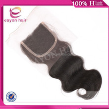 body wave 100% peruvian virgin hair lace closure light brown lace closure