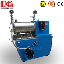 DEGOLD 30L wet mold steel grinding cylinder&disk Ex proof sub-micron agitator horizontal bead mill in China