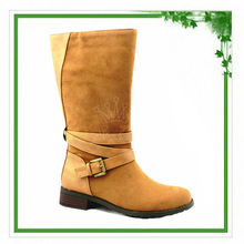 Camel Buckle Decorated Half Wholesale Thigh High Women Boots 2015