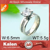 Wholesale unique beautiful fashion diamond stainless steel finger ring