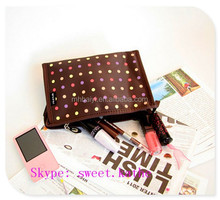 Professional Polyester Cosmetic Travel Bag With Mirror