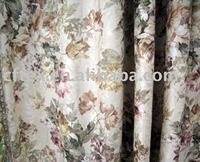 tradinion style polyester cotton jacquard flower curtain fabric