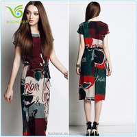 2015 New silk elegant dress for Fashionable women