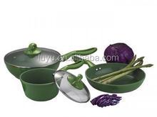 5pcs heat resistant painting die casting aluminum nonstick cookware set