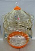 golden round bird cage