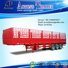 Best selling 3 axle fence semi trailer and stake semi trailer for bulk cargo transport