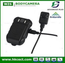 H.264 compressed format,120 degree wide angle,2 replaceable battery,dual lens,1080p full HD body worn camera