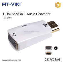 HDMI convert to VGA video adaptor with good quality, hdmi male to vga female MT-3004