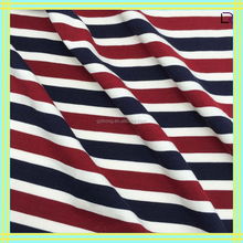 wholesale fashionable rayon/cotton single jersey fabric with strips for garment