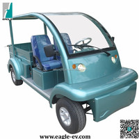 Electric utility vehicles, long cargo bed and roof, CE approved, EG6063KCX
