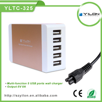 Universal 4 USB Ports EU Plug Home Travel Wall AC Power Charger home charger for iphone 4 5S 5C ipad 2/3 Mini