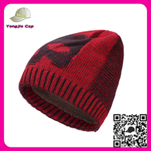 wholesale alibaba customize floppy mens knitted beanie slouch hat blank jacquard custom knitted cuff beanie hat