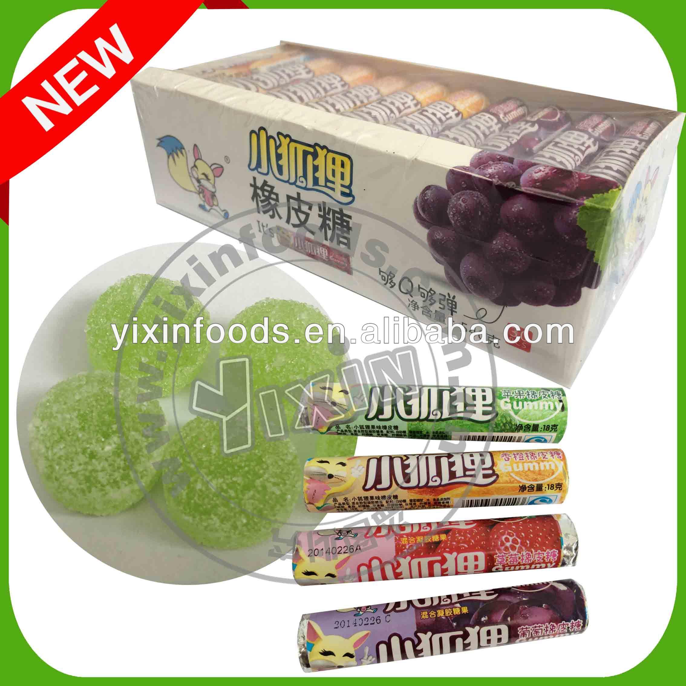 Fruta de goma del caramelo en caja