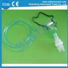 Caliente la venta de consumibles medical máscara de oxígeno con nebulizador