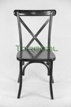 2015 Best Seller Rattan Beech Wood X Cross Back Dining Chair