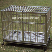 Double door square tube dog cage /pet carrier