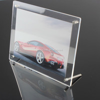 2015 NEW Style & Hot sale clear acrylic photo Frame, magnetic picture frame 5 x 7