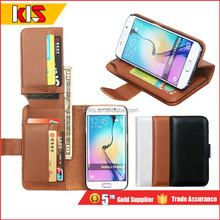 Leather Case For Samsung Galaxy S6 / s6 edge Flip Wallet Case Book Stand Card Slot