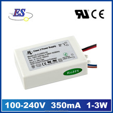 3W 12V 350mA AC-DC Constant Current LED Driver (CE SELV UL CUL)