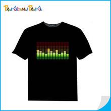 Hot Led flashing light t-shirt/promotional shirt
