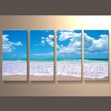 moderno paisaje marino foto pintura al óleo con la calidad superior