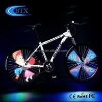 2015 bicycle wheel light LED compound by 4 LED sticks led head light
