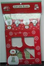 holiday party color print cupcake box