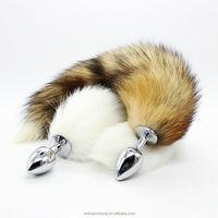 China whole sale sex toys Fox tail anal plug