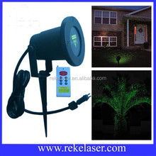 Red and green static starry twinkling waterproof garden laser light, IP65