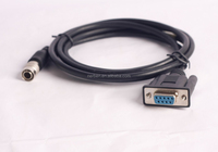 9-Pin Female To 6-Pin Male RS232 PENTAX Download Data Cable for Pentax Total Stations