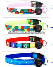 LED rainbow dog collar,dog training