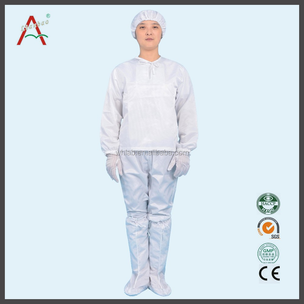 Anti Static Clothing : Recyclable cleanroom uniform anti static clothing esd suit