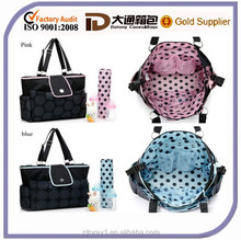 2014 Promotional new style mummy baby bag in pink blue