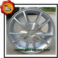 "15"" in 4*100/4*110/5*114.3pcd ET 35 aluminum alloy wheel rim with sliver color 5 spokes"