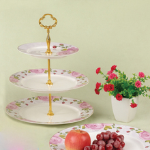 Decorated Three Floors Cake Plate /Three Layer Fruit Plate