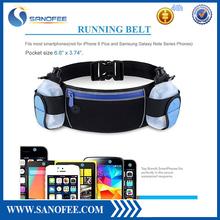 Multifunctional Zipper Pockets Water Resistant Waist Bag, Water Bottle Waist Pack for Running Hiking Cycling