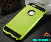 Free Sample hair line pattern dual layered armor mobile phone shell for iphone 4S/5S/6 /6S/6P/6SP