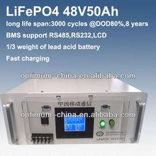 48v 50ah lithium battery for Communication base station