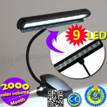 High Brightness Clip 9 LED Book Music Stand Light
