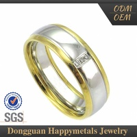 Hot Sale Stainless Steel Custom Engrave Yellow Gold Ring 999