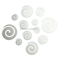 New Arrival!!!High Quality Modern Design DIY Screw Spiral Acrylic Mirror Wall Home Bedroom Decal Decor Vinyl Art Stickers