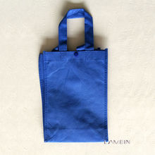 Recyclable blue non woven fabric shopping bag