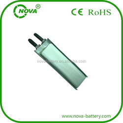 lipo battery 3.7v 250mah mp3 player battery cells 651240