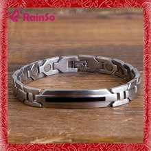 golf with candy germanium stones bracelet ,fashionable engraving bead stainless steel jewelry