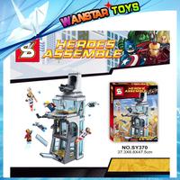 Baby toys blocks SY370 Marvel Super Heroes I ron Man Tony Stark building brick sets Experimental Tower minifig