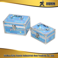 2pcs aluminium cosmetic case, delicate and practical waterproof storage case