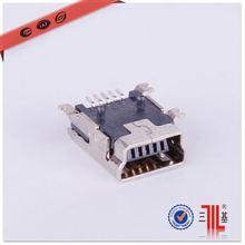 5 pin male mini usb connector for mobile phone usb connectors usb b-5p crimp con