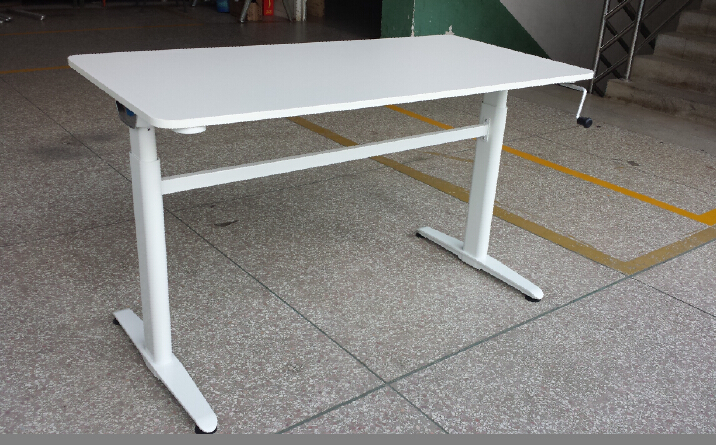 Telescopic Official Table Legs Aluminum Height Adjustable Desk Legs Sit Or Stand Up Desk View